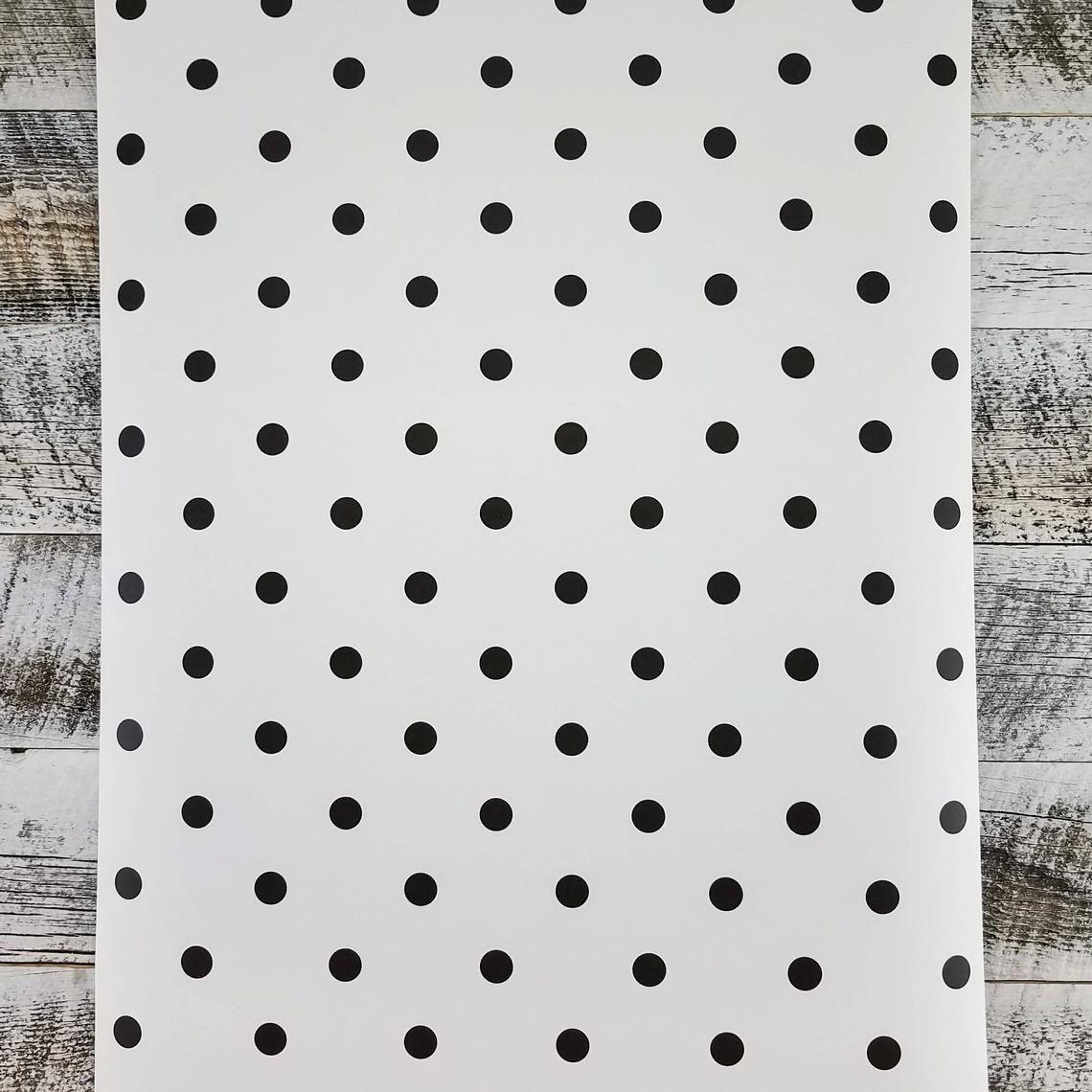 York Magnolia Home Joanna Gaines White Black Polka Dot
