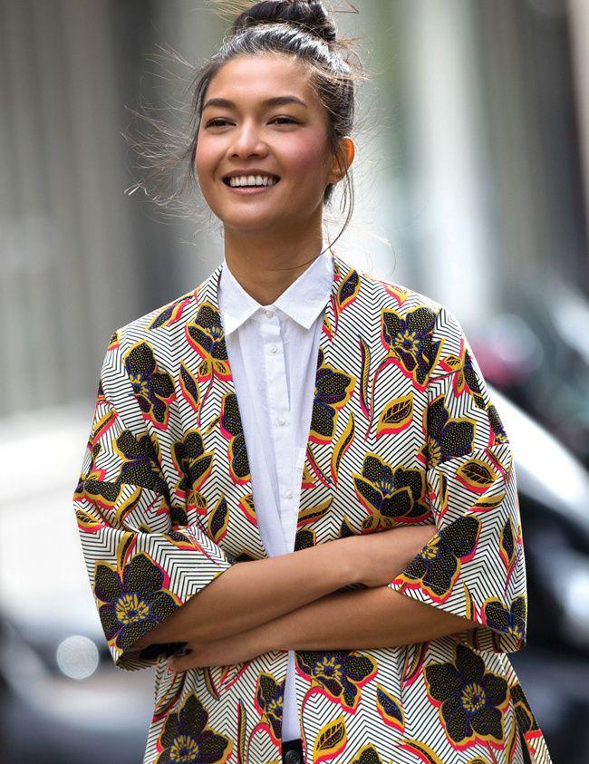 0b5a476711 La veste kimono, une bonne alternative au blazer ! (look Pimkie ...
