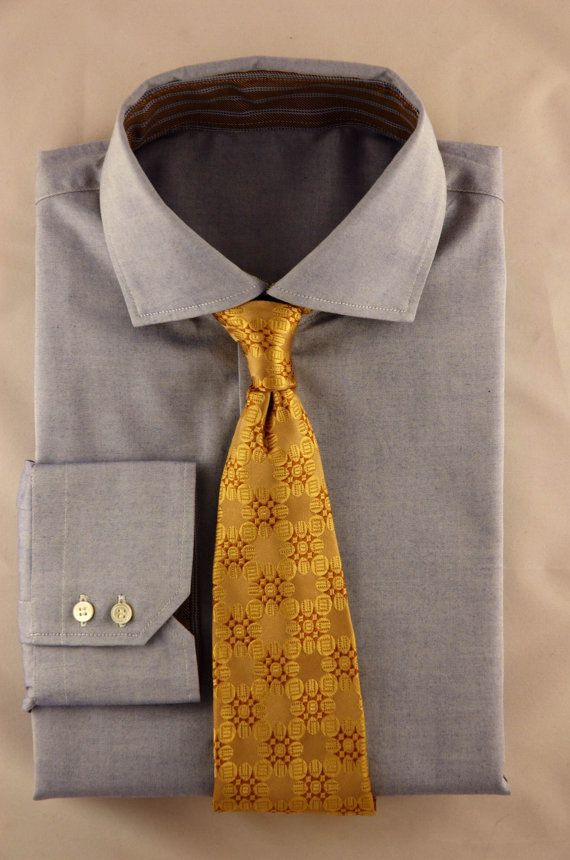 Timeless Quality Yellow Color Handmade Silk Necktie (Distant View) #Mens #Fashion