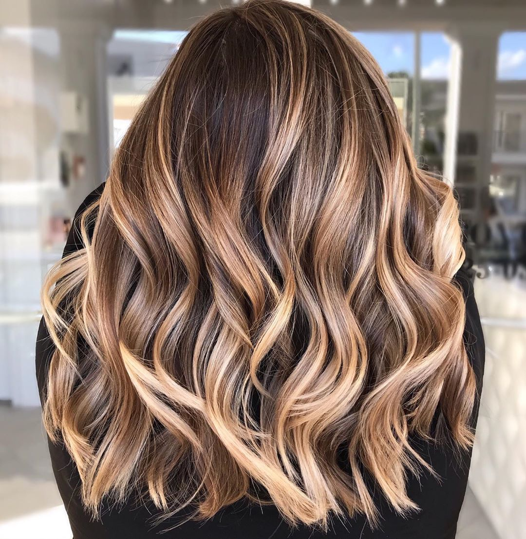 Warm Light Brown Hair With Highlights Spring Hair Color Warm Light Brown Hair Cool Hairstyles