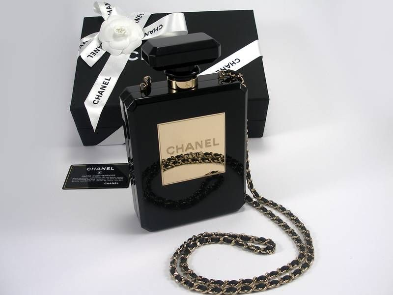 7b79155e6fa Chanel Black Perfume Bottle Bag Limited Edition
