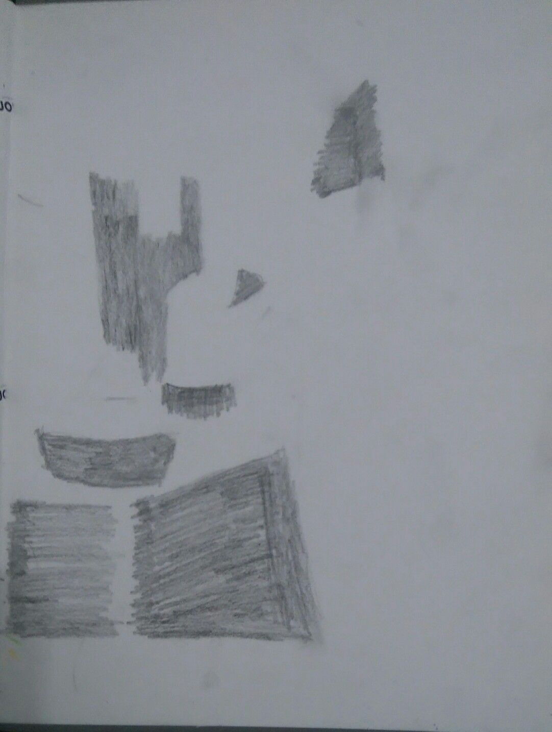 O terceiro passo foi o das massas sob a imagem. De forma a reunir os espaços de maior volume na imagem