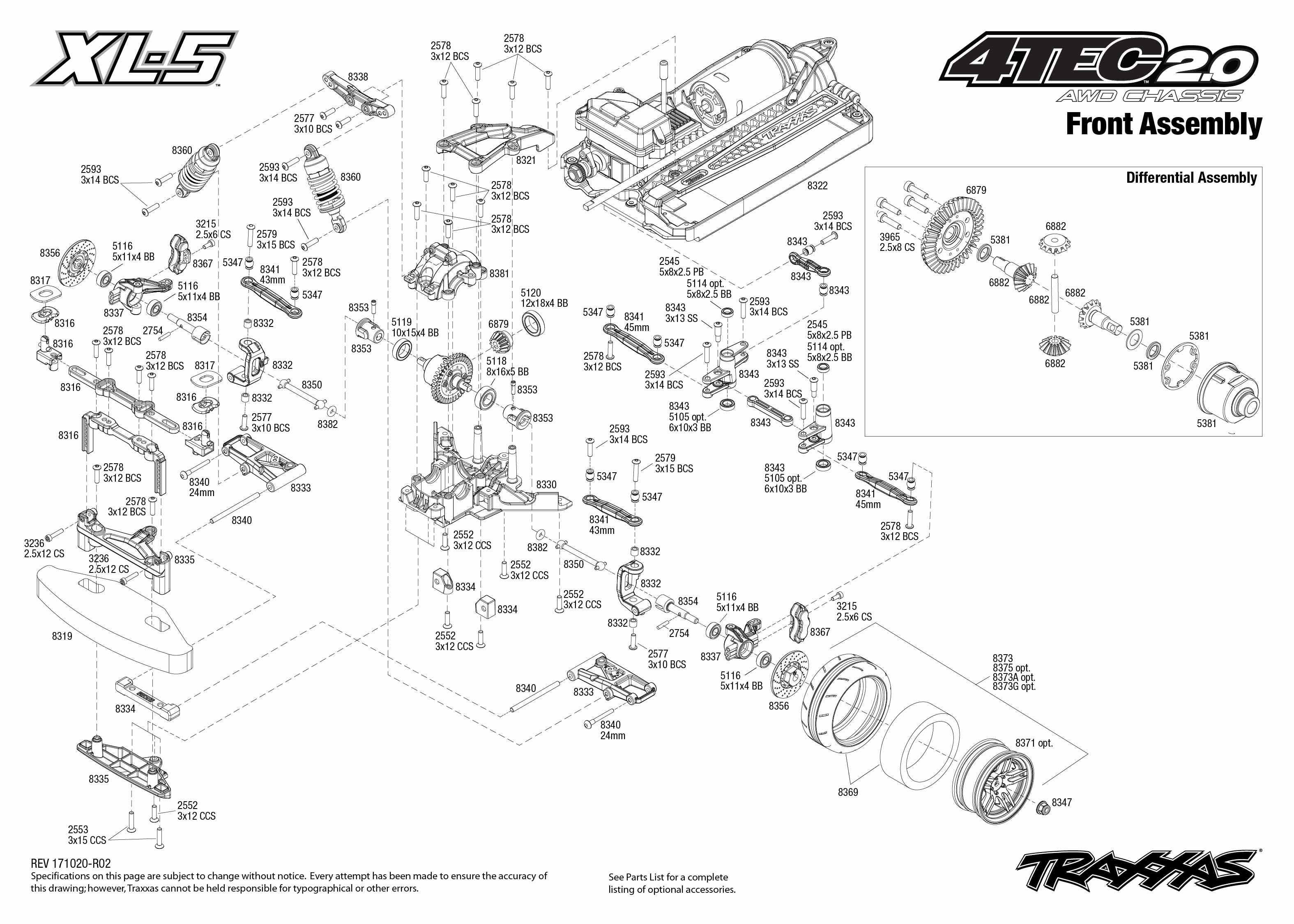 4 Tec 2 0 4 Front Assembly Exploded View