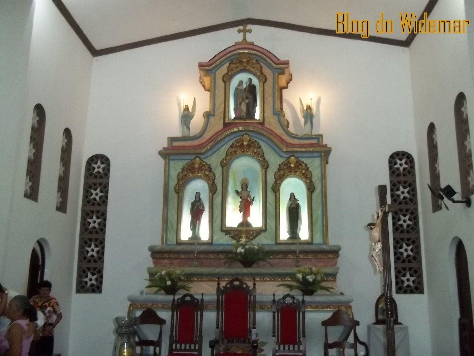 Altar da Igreja São Sebastião Araçagi-PB