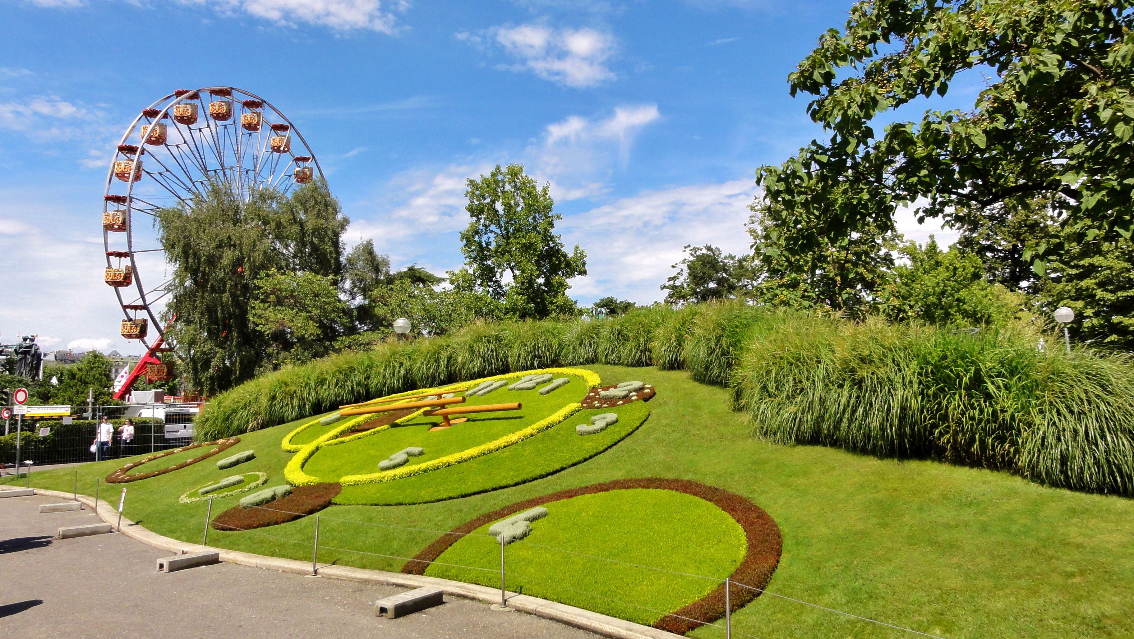 Horloge Fleurie Au Quai Du G N Ral Guisan Jardin Anglais