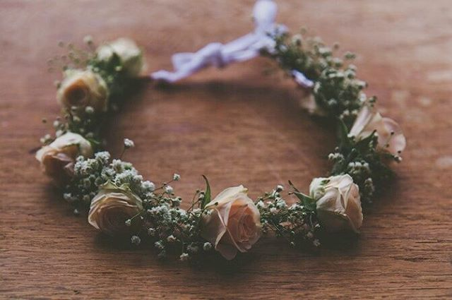 Peach And Baby S Breath Flower Girl Crown Flowers By Twig Twine Floral Artistry Auck Flower Girl Hair Wreath Flower Girl Crown Wedding Accessories Jewelry