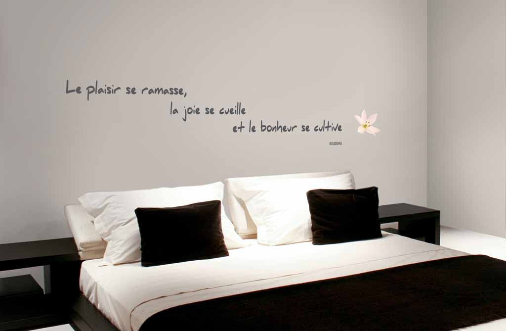 Stickers mural citation de bouddha renovation pinterest citation murale stickers citation - Stickers muraux citations chambre ...