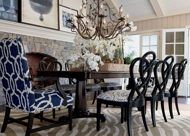 Love The Wood Arms Instead Of Fabric Chair Seats And Martha Washington Elegant Dining RoomChair