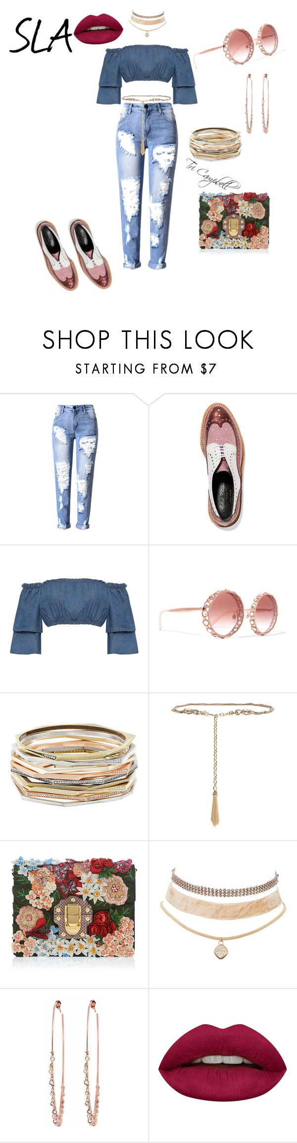 """Rosey"" by tritheslaqueen on Polyvore featuring Robert Clergerie, WearAll, Dolce&Gabbana, Kendra Scott, St. John, Charlotte Russe, Jacquie Aiche and Huda Beauty"