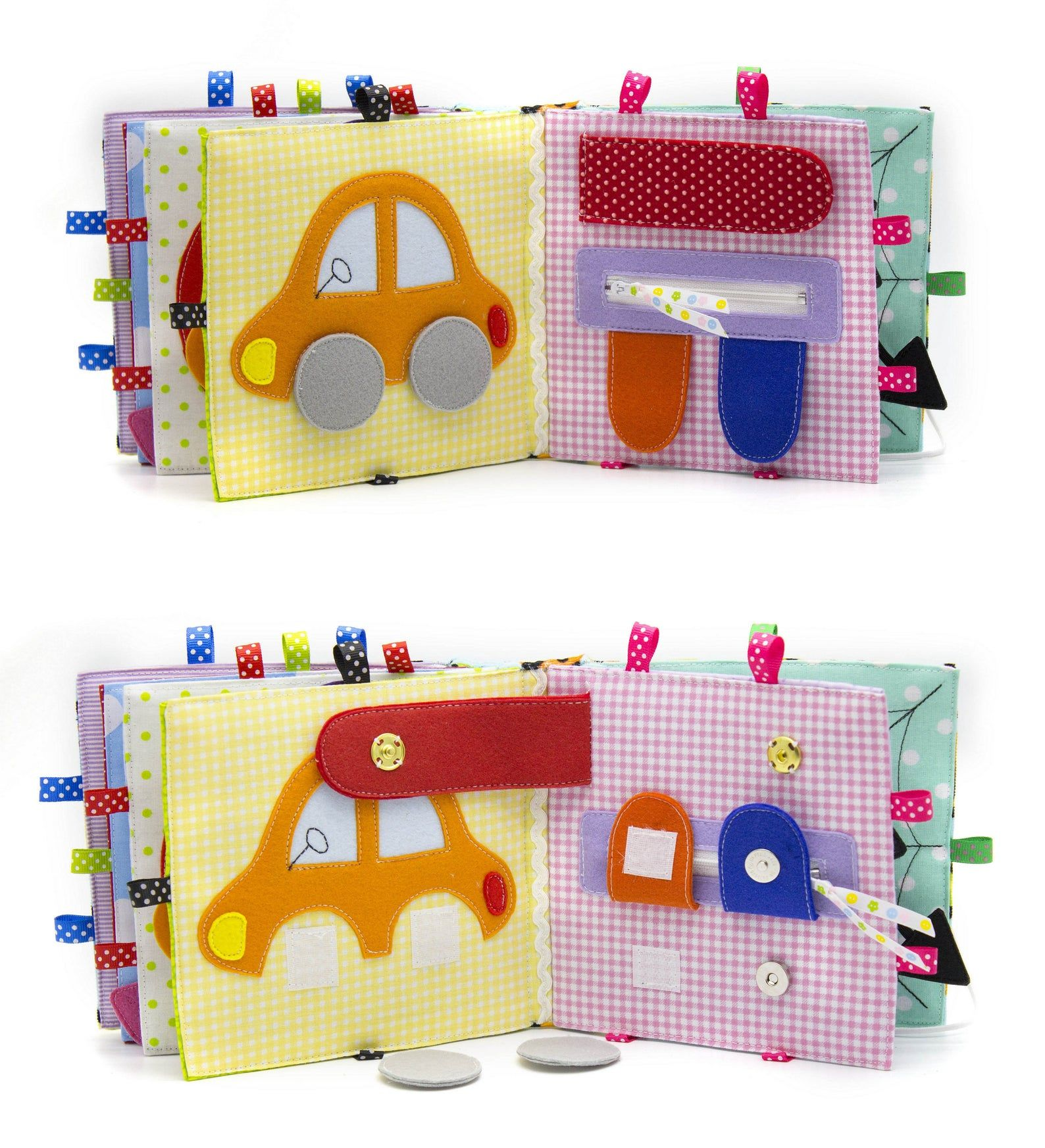 Photo of Gift baby quiet book 10 pages first sensory textile busy toy by Minimom's