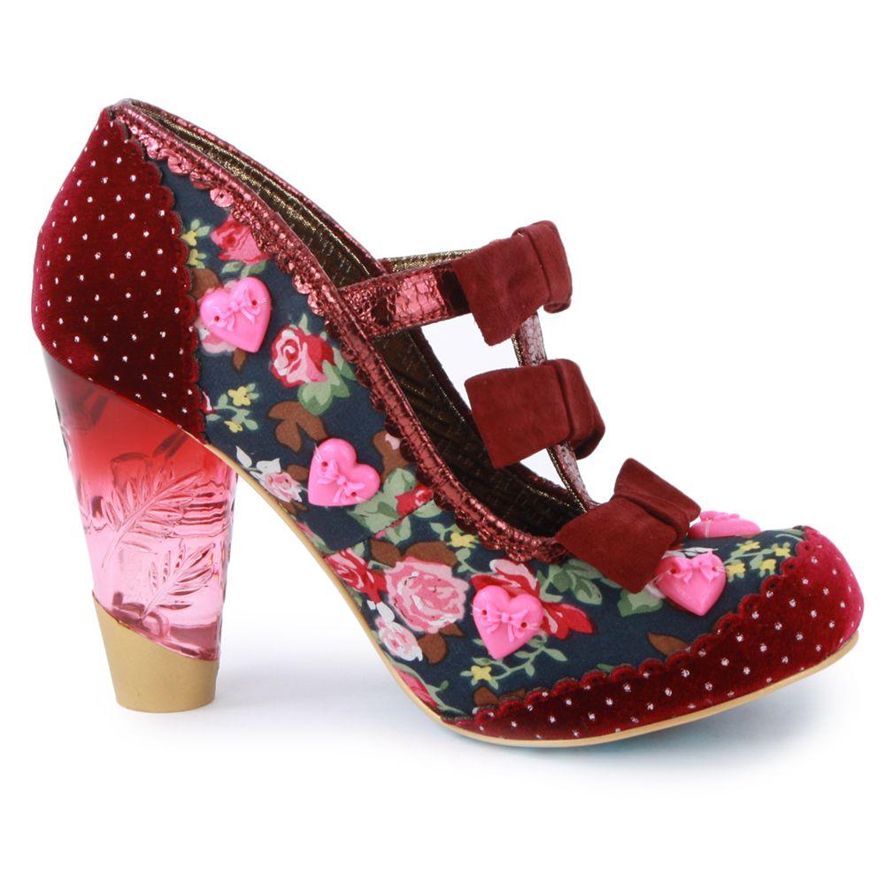 Pimp Mes Chaussures - Chaussures En Dentelle À Pois Rose Rose Shocking pPI49nvk