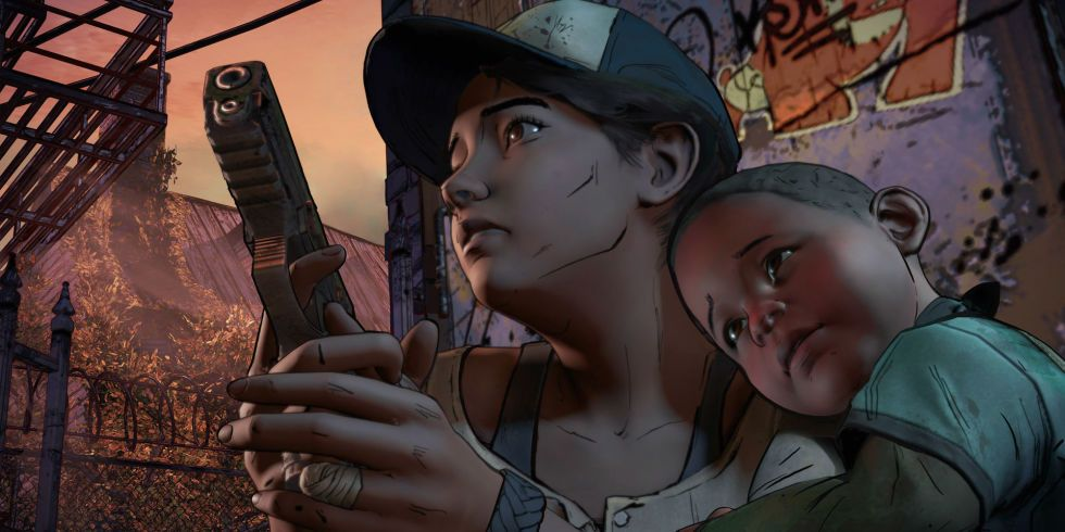 Clementine And Aj A New Frontier Walking Dead Game The Walking Dead The Walking Dead Telltale