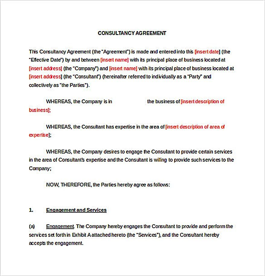 9+ Consulting Agreement Template