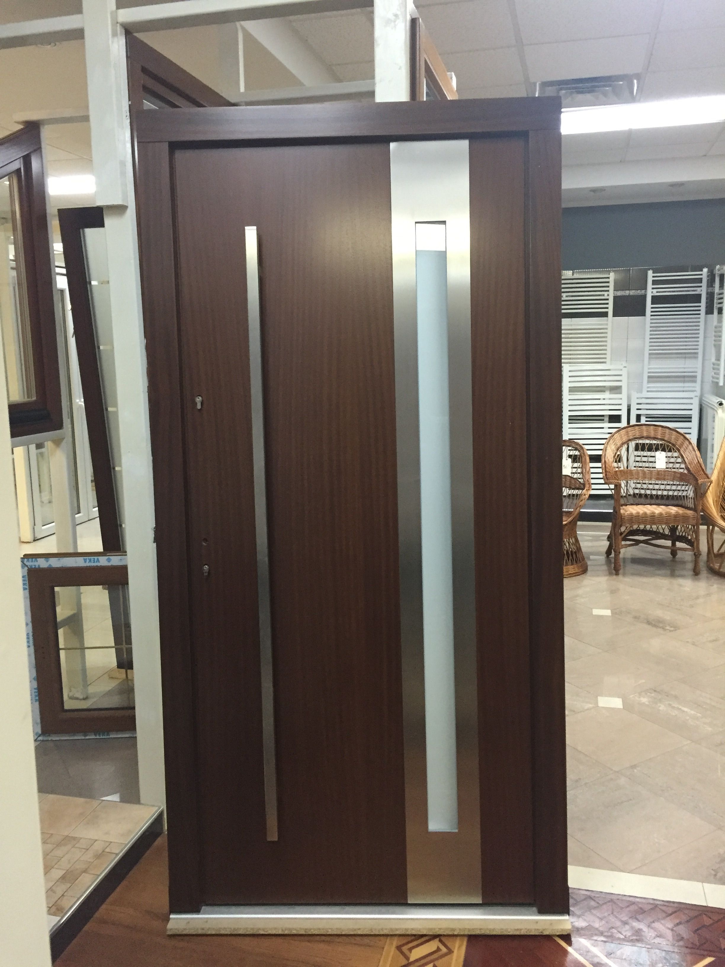 In Stock Modern Mahogany Wood Exterior Doors For Your Home Size W