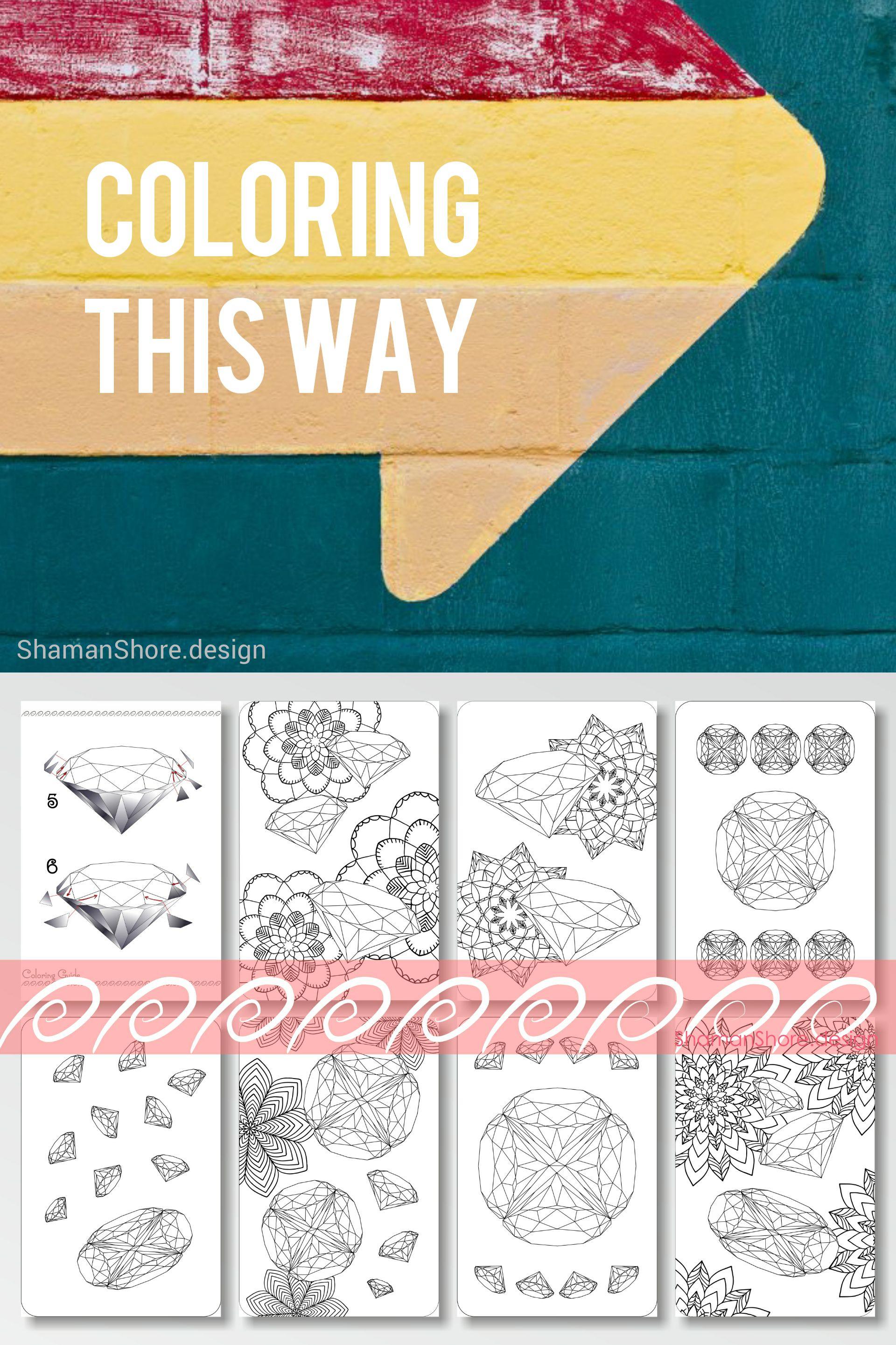 Shshprintables printable gemstone coloring pages for grown ups