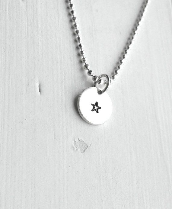 Tiny Star Necklace Sterling Silver Jewelry by GirlBurkeStudios, $25.00