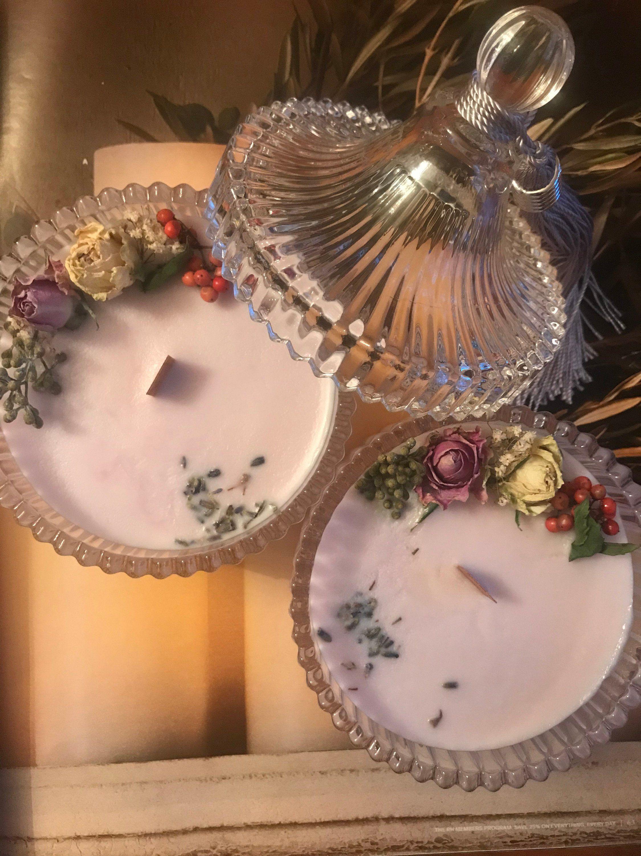 Merry Go Round Crystal Soja Kerze Trocken Soja Kerzen Blume