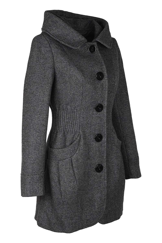 Edler Damenwollmantel in Grau für die kalten Tage von