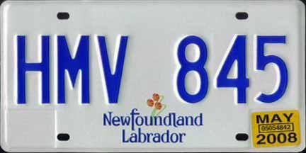 Canadian Province License Plate Newfoundland