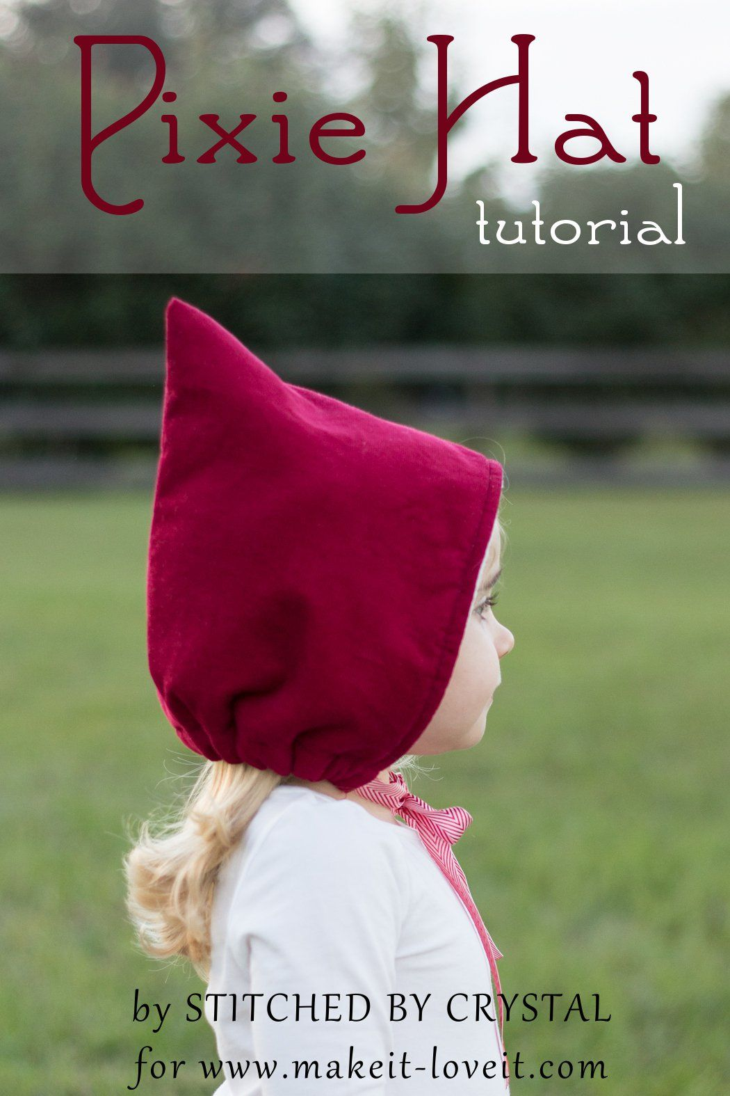 Sew a Pixie Hat/Bonnet....so simple to make and cute for winter ...