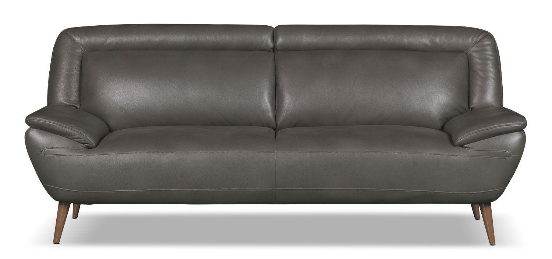 the brick condo furniture. Sofa Roxy De Format Condo D\u0027apparence Cuir - Gris The Brick Furniture