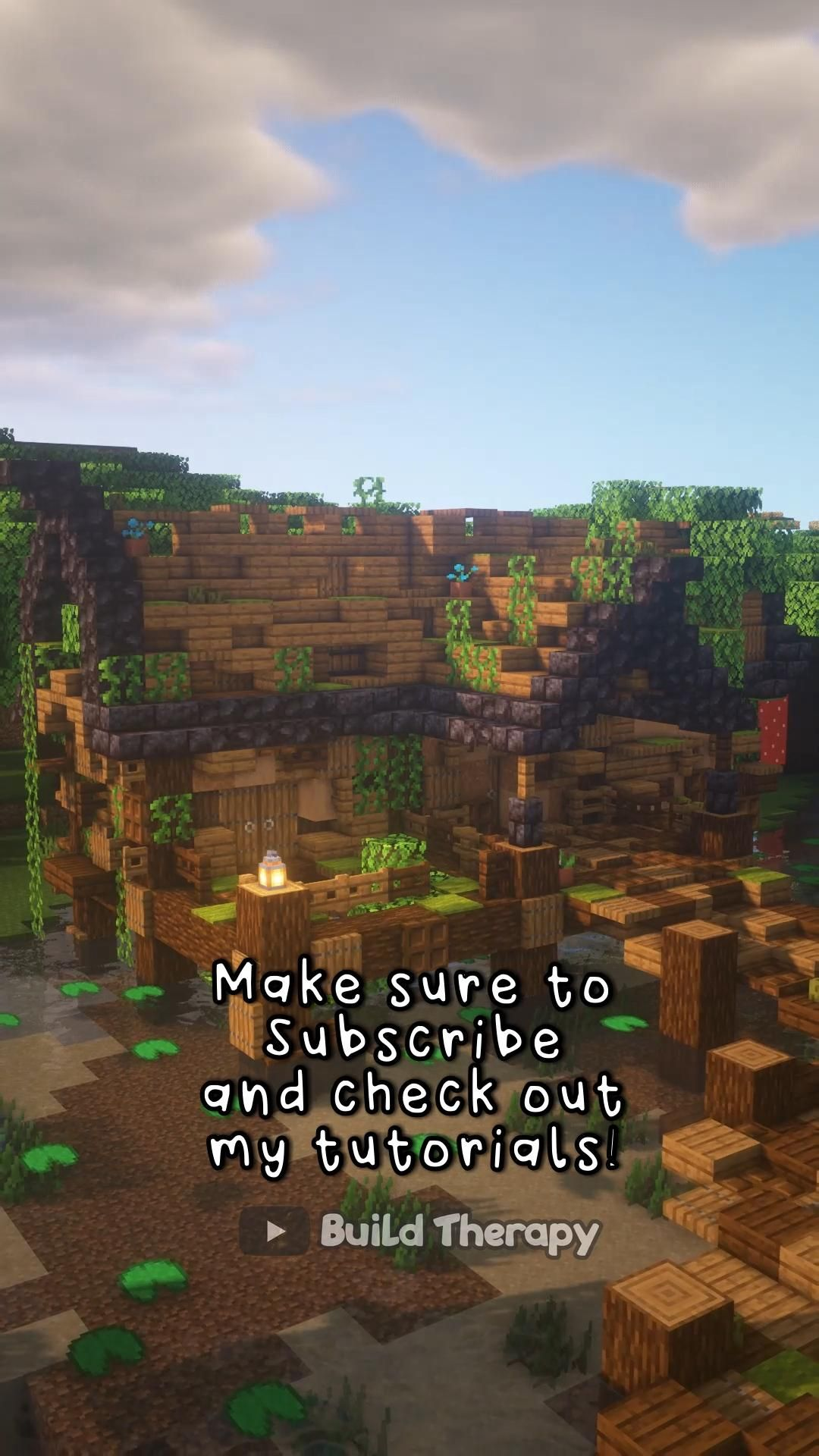 Minecraft Rustic Lake House Timelapse