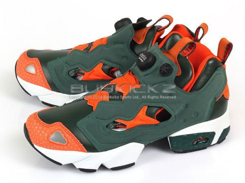d26b296bce6a34 Reebok Insta Pump Fury Classic Running Trainers Sneakers Olive Orange  V53781