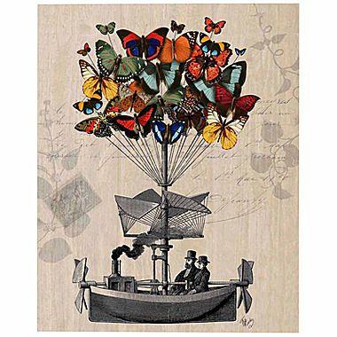 Jcp Butterfly Adventures Canvas Wall Art Airship Art Art Poster Art