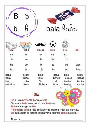 10 Atividades De Alfabetizacao Letra B So Escola Atividades