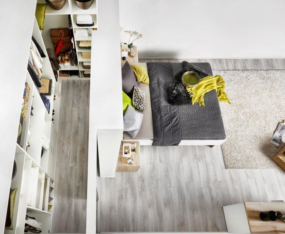 Begehbarer Schrank mit Trockenbauwand und ohne Tür Dream houses - schlafzimmer begehbarer kleiderschrank