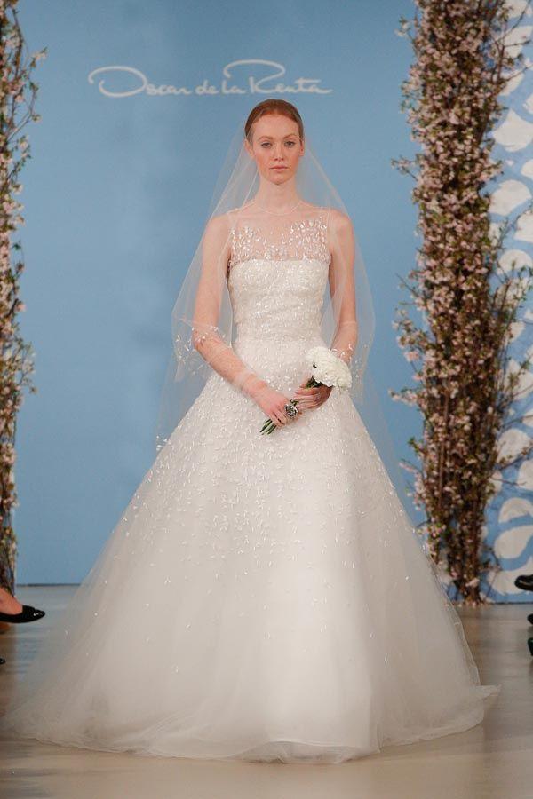 vestidos de novia para primavera-verano 2014 diseño de oscar de la