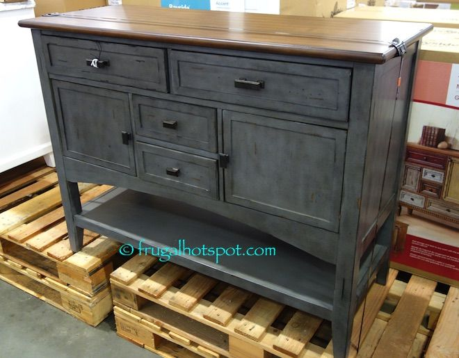 Costco: Bayside Furnishings Blue Gray Accent Cabinet $299.99