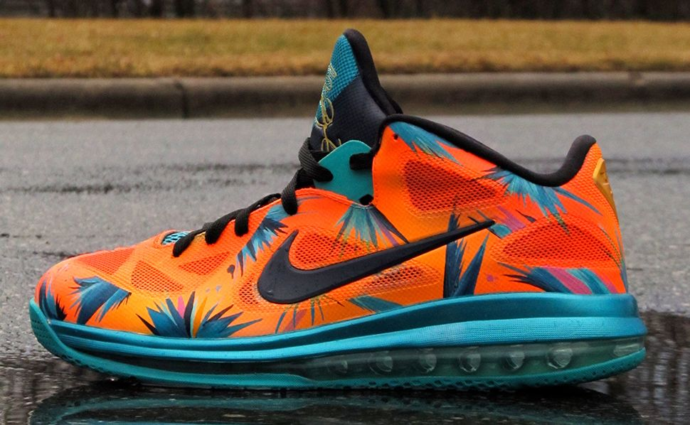 "Nike LeBron 9 Low ""Sunset Palmer"" Custom http://nicek.is ..."