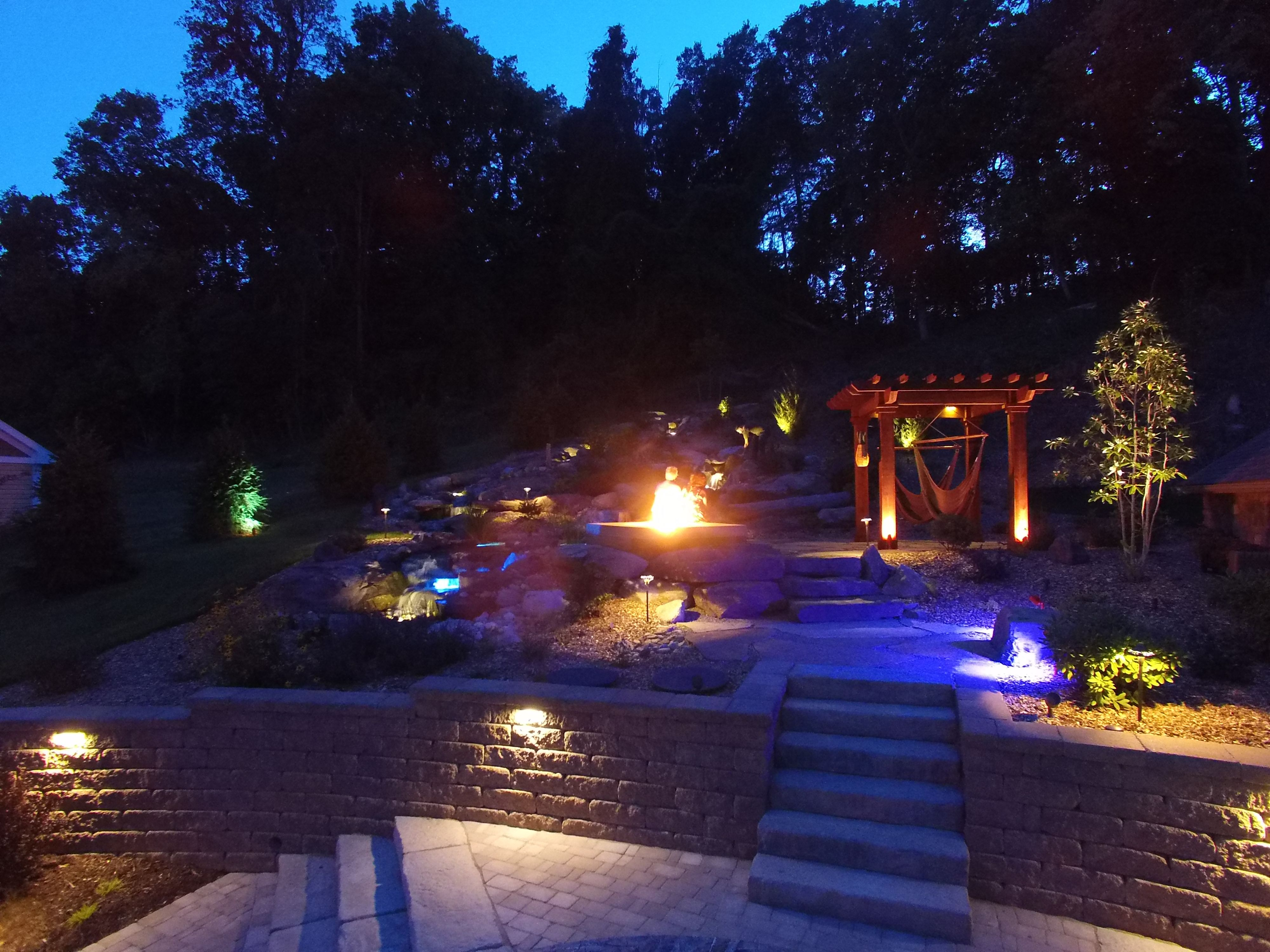 paradise landscape lighting. Paradise Outdoor Lighting. Ultimate Living \\u0026 Entertaining Backyard At Night! Lighting Landscape G