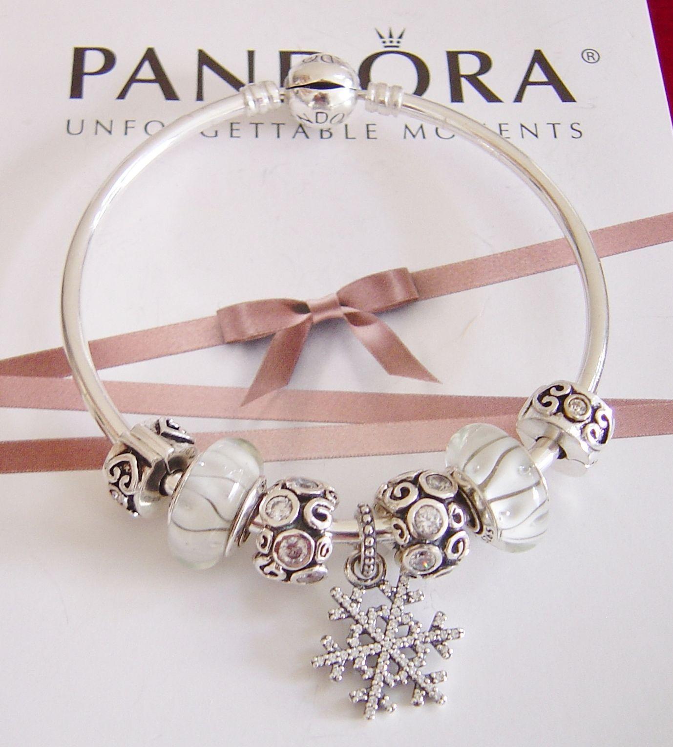 Details About Authentic Pandora Charm Bracelet Silver Mom