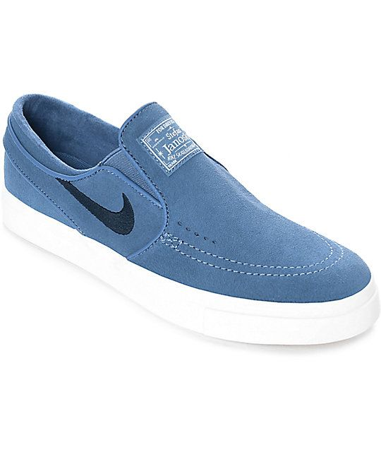 Nike SB Janoski Blue Moon Suede Slip On Women's Skate Shoes | Zumiez