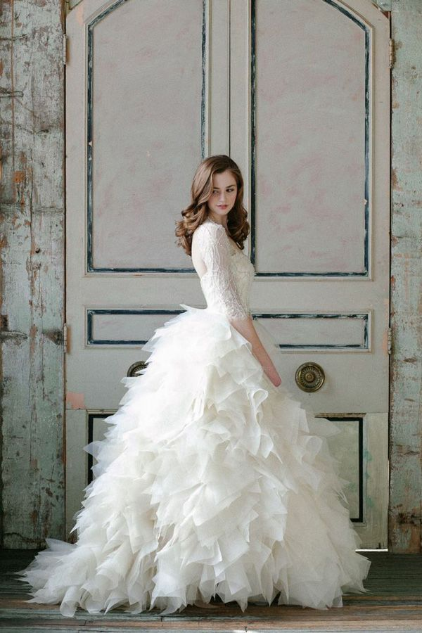 Ruffled perfection, layers of swoon | Brides of Adelaide magazine ...