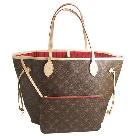 Louis Vuitton Monogram Neverfull MM Bag M41177 Cerise