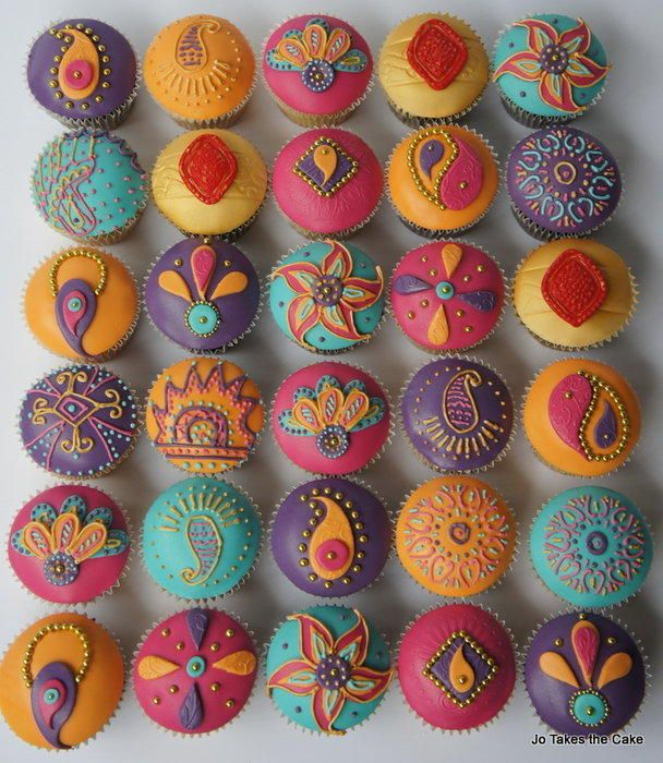 A Cupcake Themed 1st Birthday Party With Paisley And Polka: Colourful Cupcakes To Complement An Indian Princess 1st
