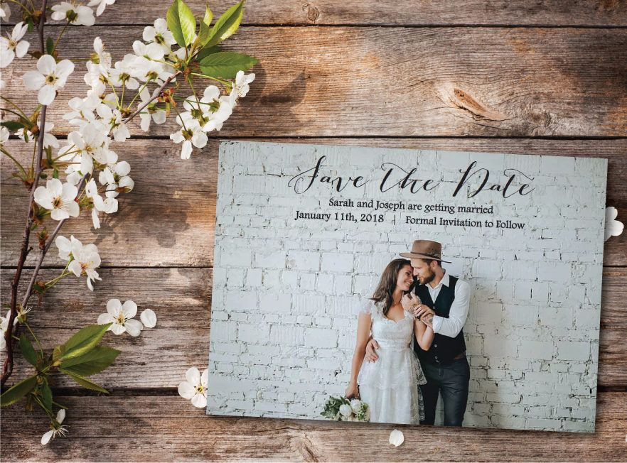 Printed or Printable Photo Save the Date Postcard/Save our Date ...