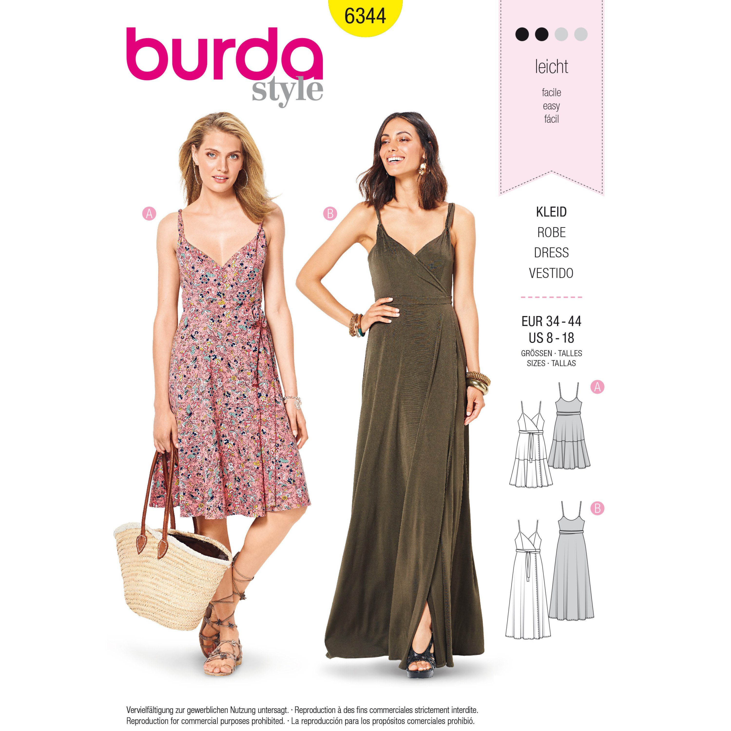 Purchase Burda 6344 Misses Wrap Dress And Read Its Pattern Reviews Find Other Dresses Wrap Dress Sewing Patterns Patterned Bridesmaid Dresses Sewing Dresses [ 3000 x 3000 Pixel ]
