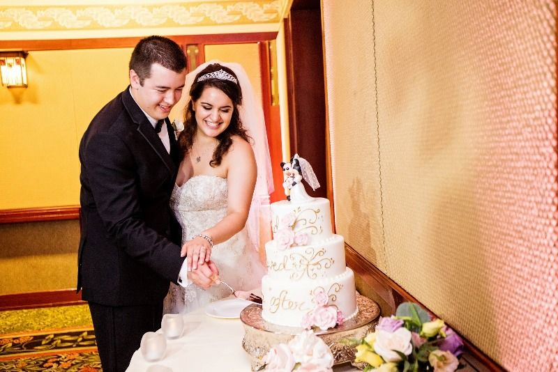"""Michelle and Brian's """"Happily Ever After"""" Disneyland Wedding #Disneywedding #disneybride #disbride"""