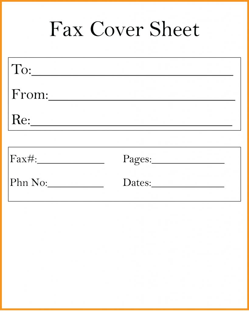 Fax Cover Sheet PDF   Fax cover sheet, Cover sheet template ...