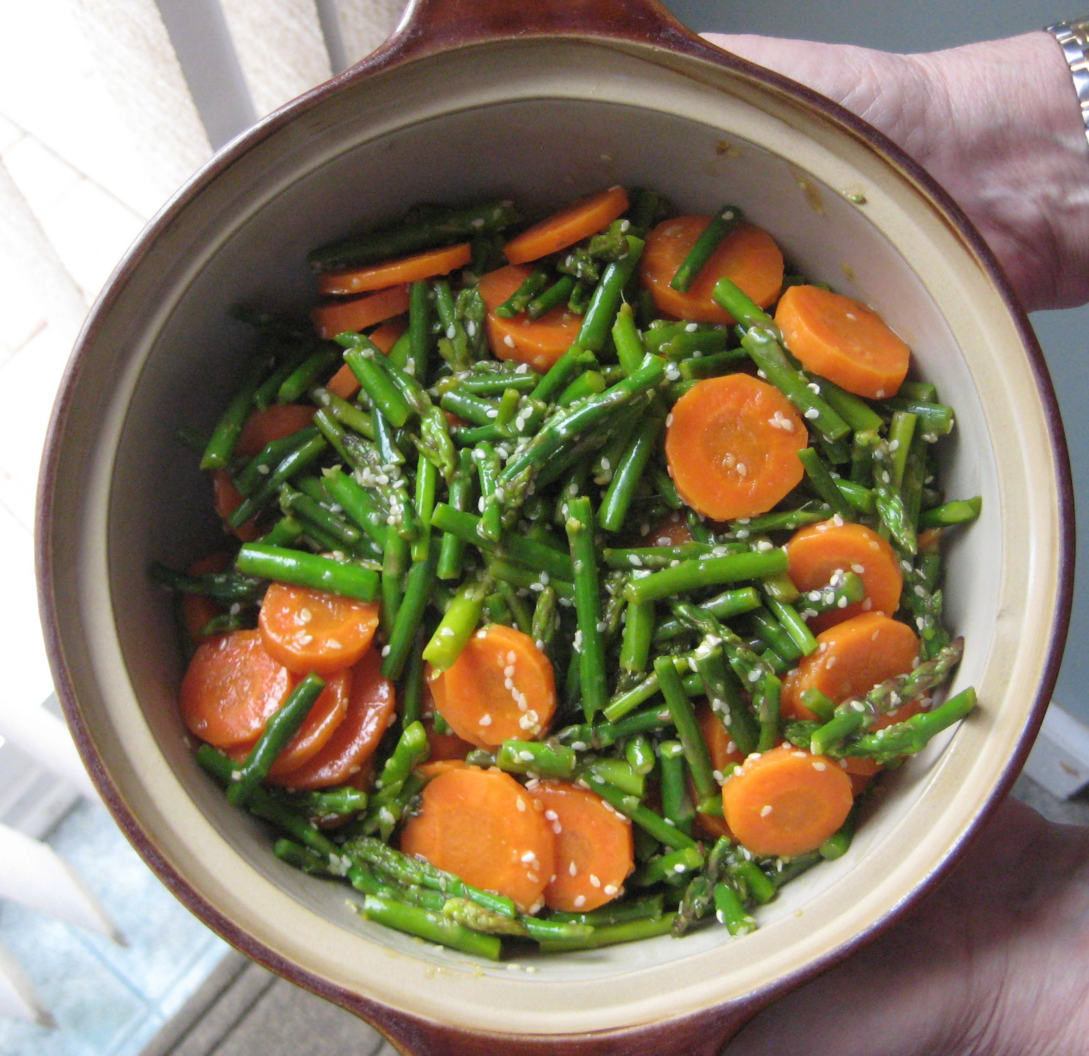 Sesame Asparagus with Carrots