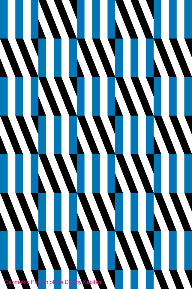 Black And White And Royal Blue Striking Kapitza Geometric