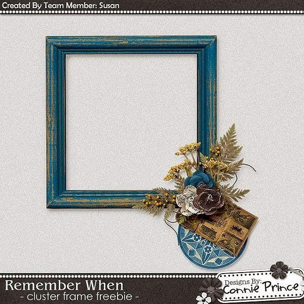 Scrapbooking TammyTags -- TT - Designer - Connie Prince, TT - Item - Frame, TT - Style - Cluster