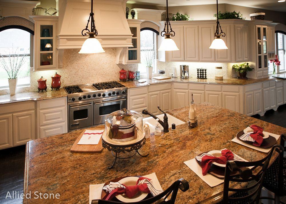 Kitchen   Material: Amber Fantasy  ****************************************** #Granite #Countertops U003e #Marble  U003e #Quartz U003e #Kitchen U003e #Soapstone U003e #Dallas U003e ...