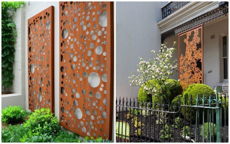 55 id es sympas pour int grer l 39 acier corten dans votre for Decoration murale jardin