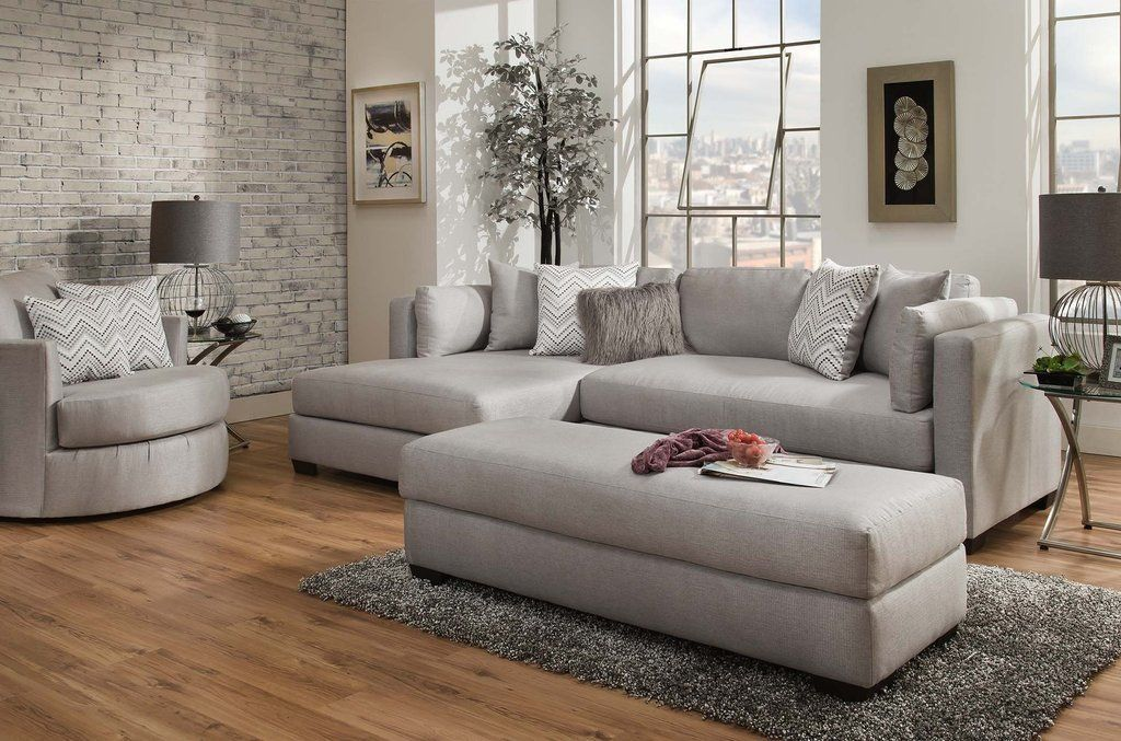 American Furniture Parker Silver Sectional Sofa Living Room Decor Cozy Furniture American Furniture