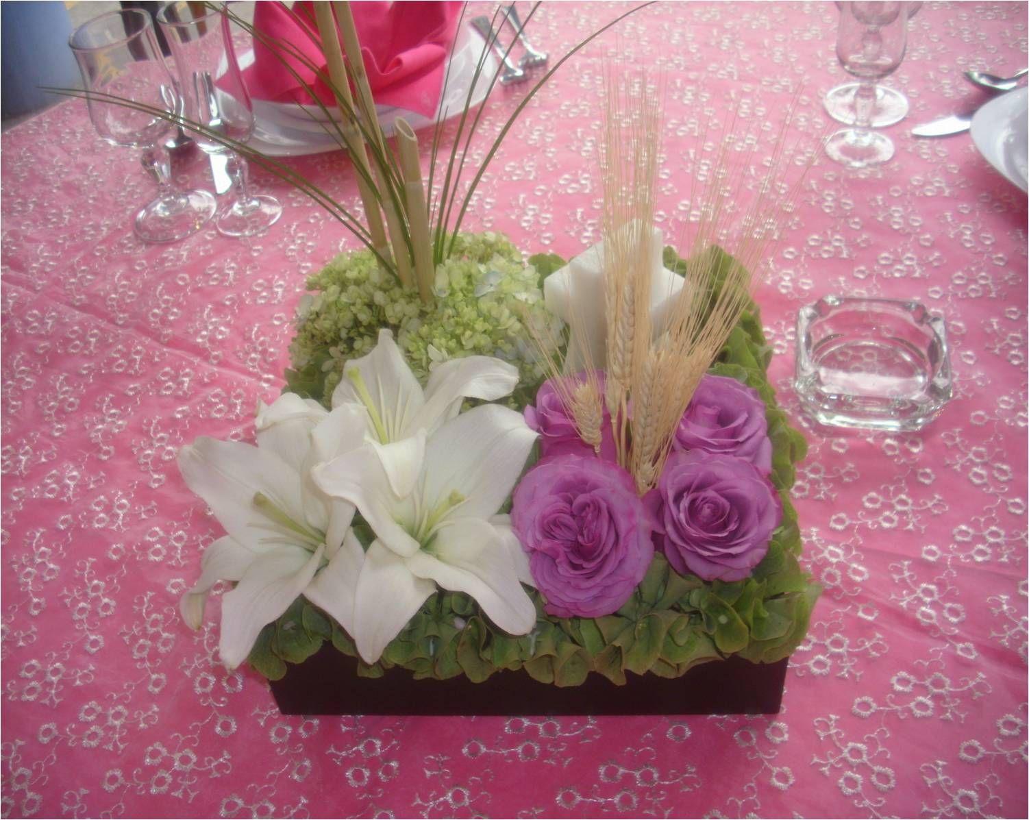 Como hacer un centro de mesa para primera comuni n - Ramos de flores modernos ...